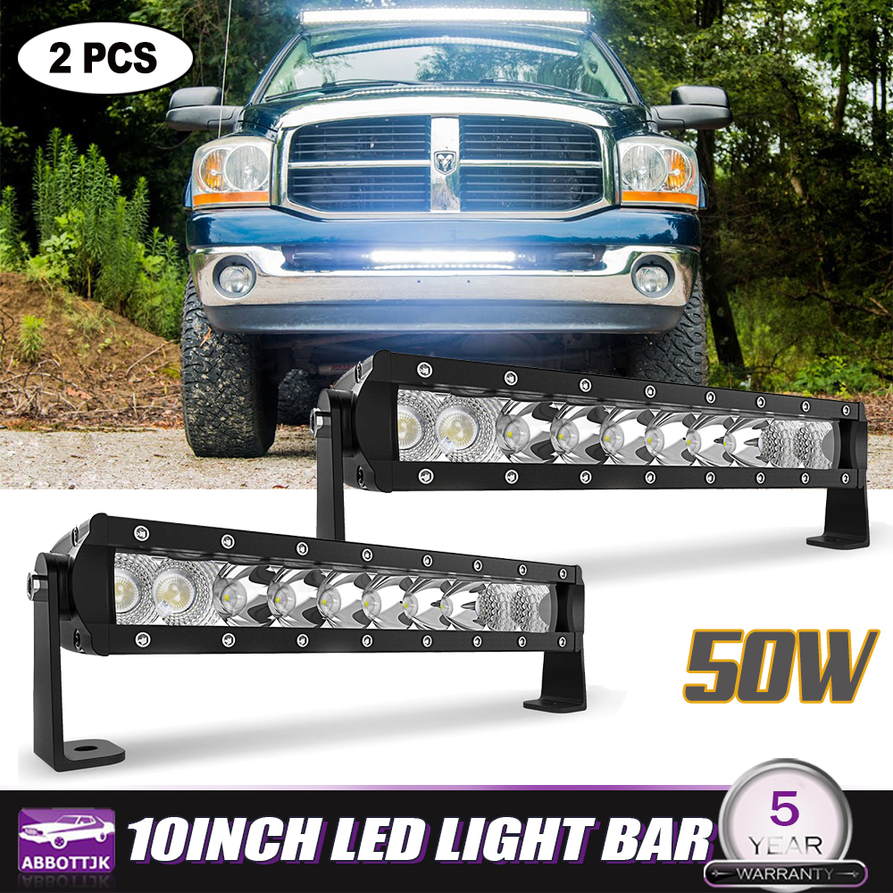 14INCH 90W Straight Bumper LED Light Bar For Ford F150 250 350