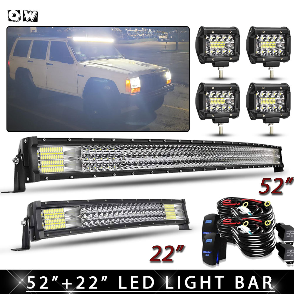180W Curved Bumper LED Light Bar Ultra-Bright Beam Dissipates The Darkness