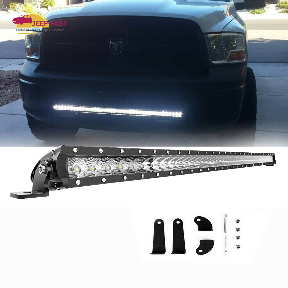 Details About For 03 18 Dodge Ram 1500 2500 Front Hidden Lower Bumper 40 42 Led Light Bar 41