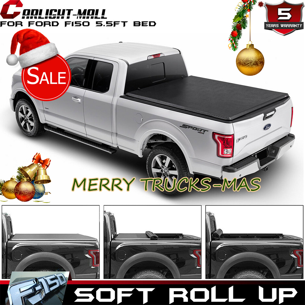 Soft Roll Up 5 5ft Bed Tonneau Cover For 2015 2018 Ford F150 F 150