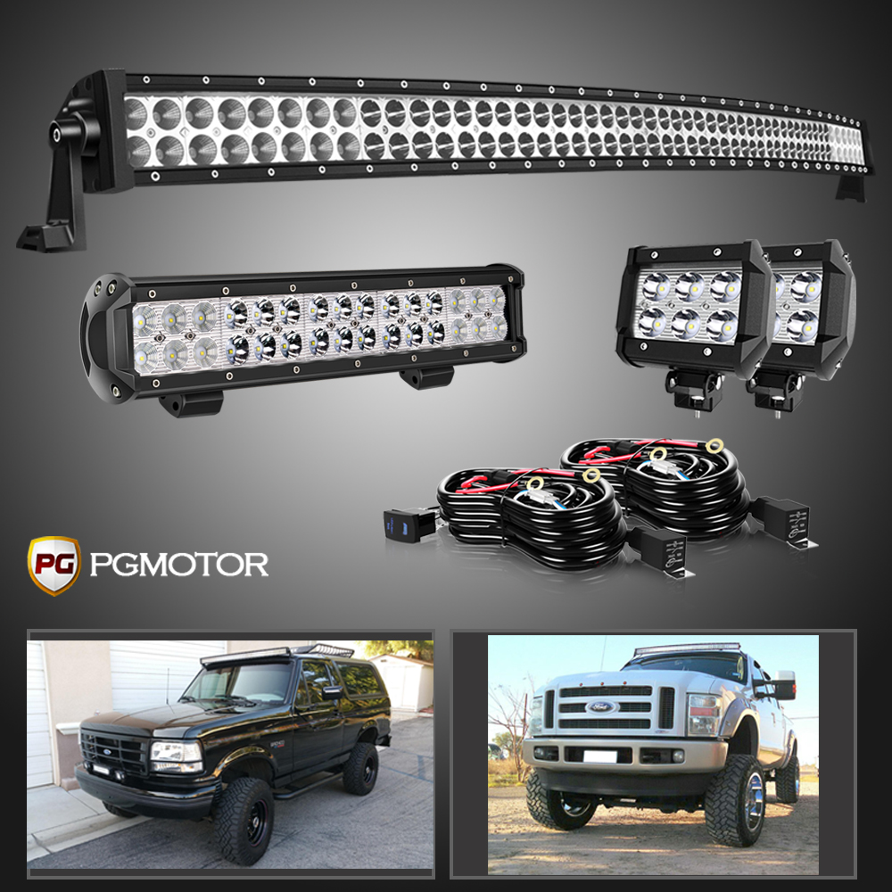 """double-Row 54/"""" 312W Curved LED Light Bar Offroad Truck For DODGE RAM 1500"""