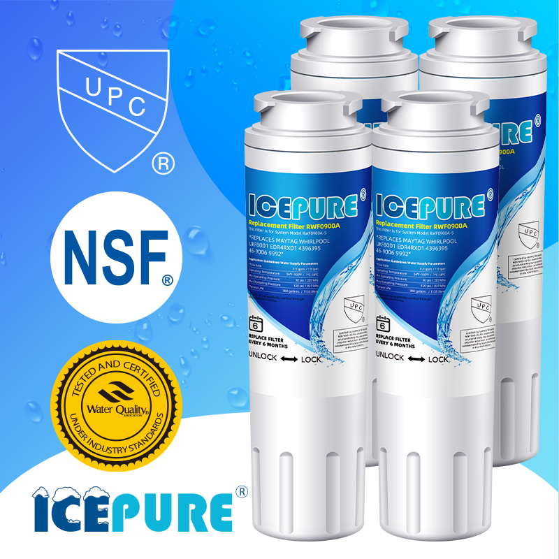 4 PACK Fit For 4396508 ED2GHGXMQ00 GS5SHAXNB01 WF285 Water Filter IcePure