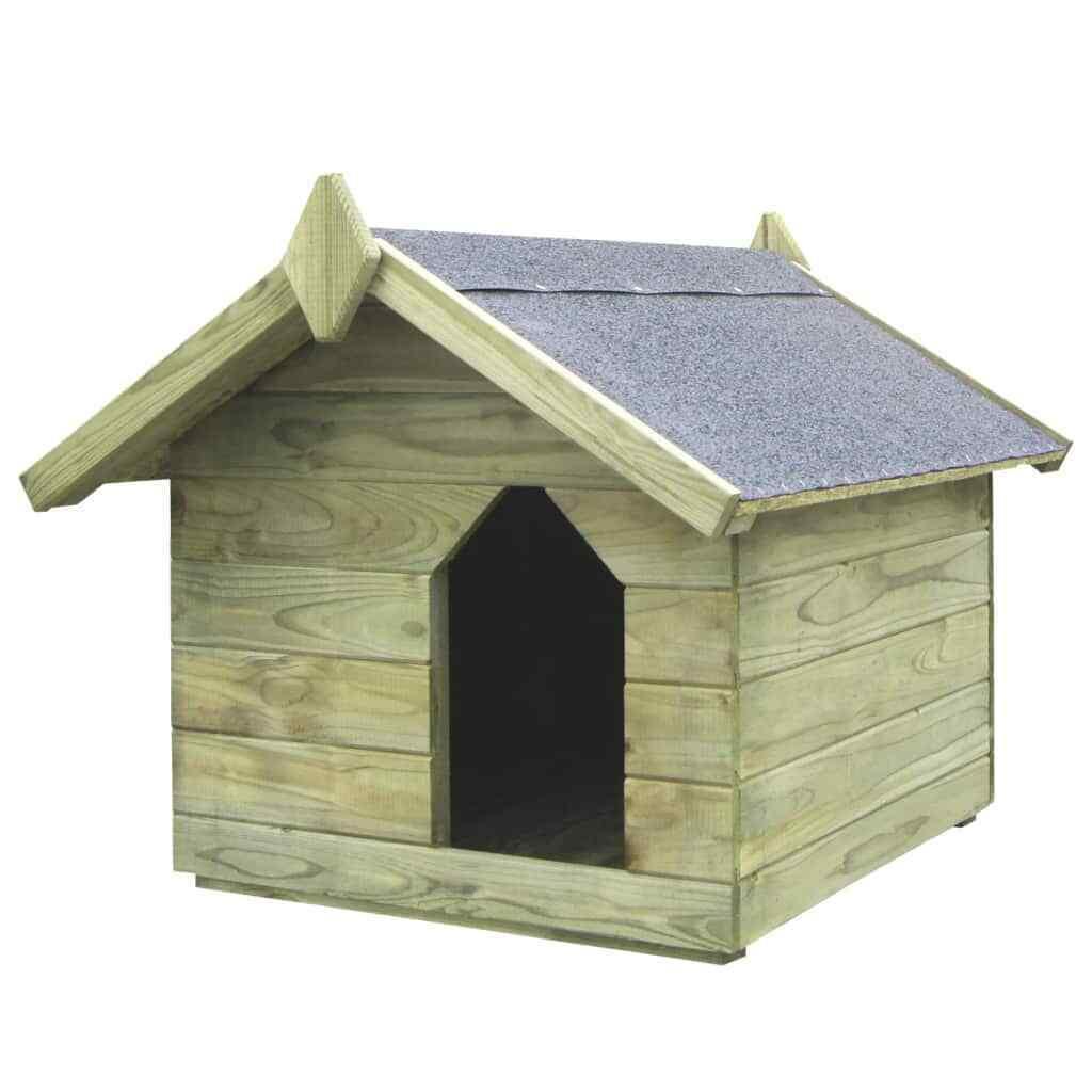 Animali Da Esterno vidaxl cuccia per cane da esterno tetto apribile legno pino