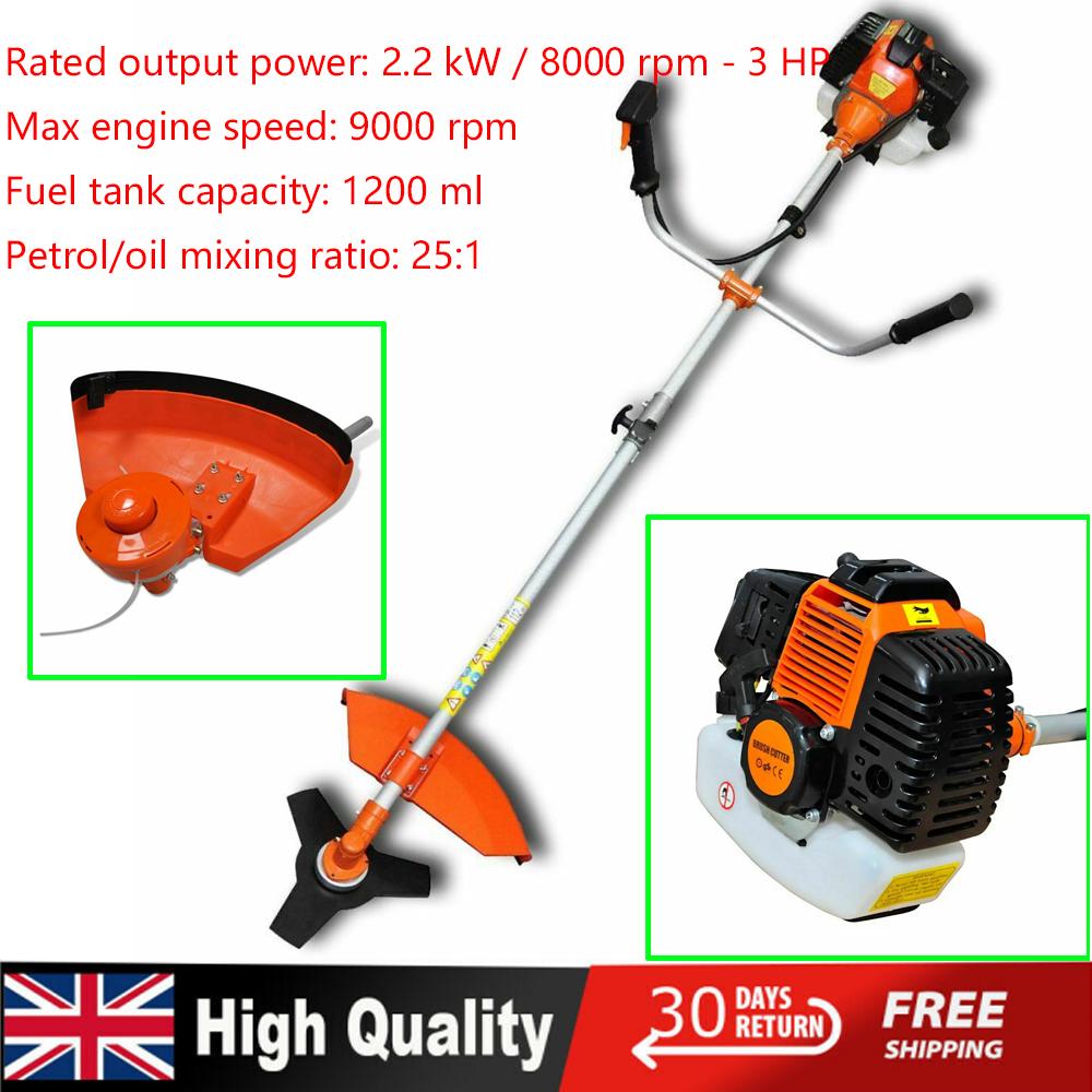 Details about 52 CC 3 HP Petrol Brush Cutter Grass Trimmer Strimmer Garden  Lawn Mower 2 2KW