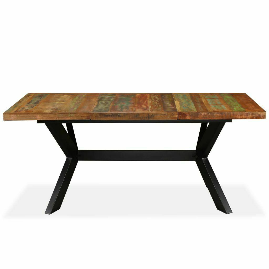 Tavolo da Pranzo Cucina Piano Stile Industriale in Legno e ...