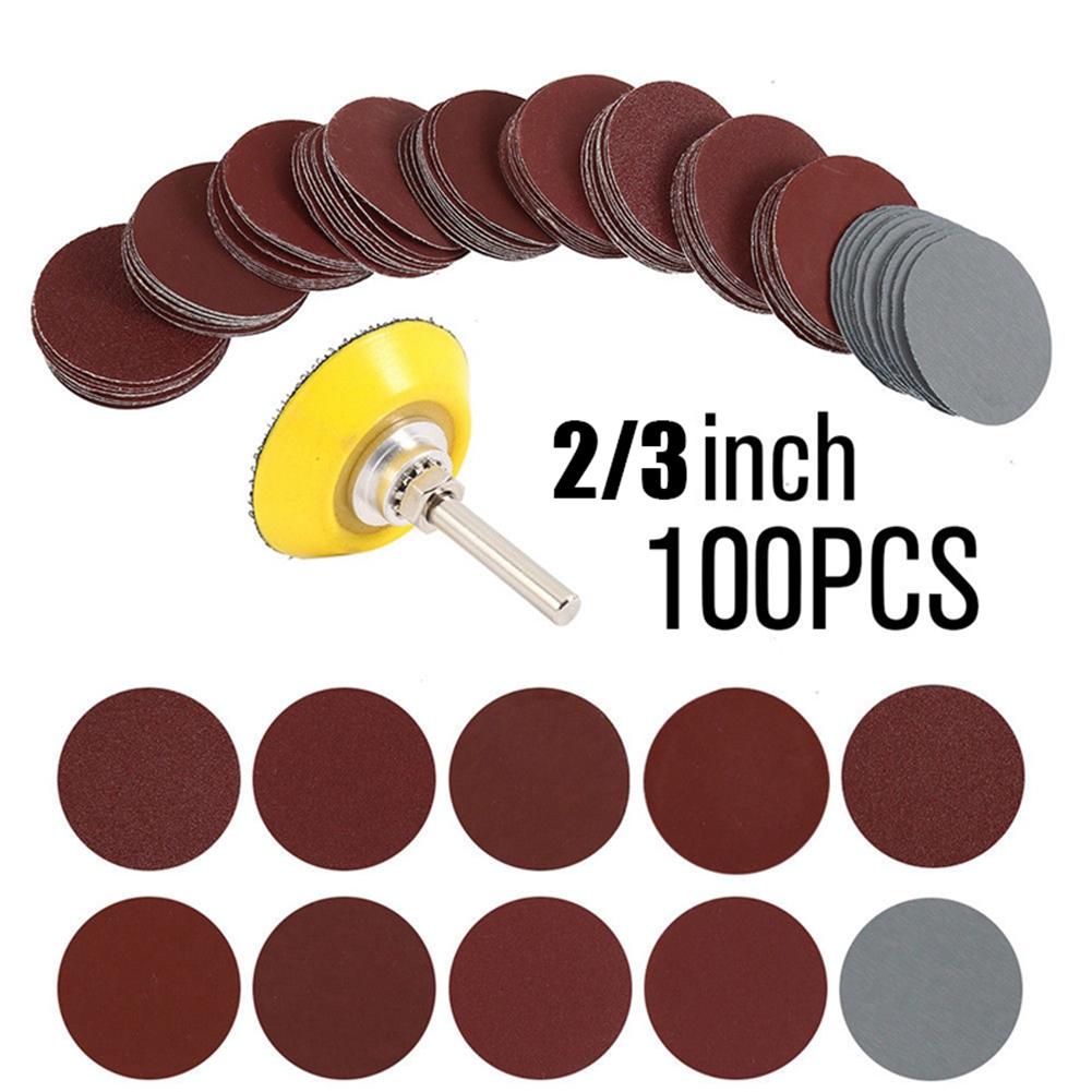 """50-tlg 2/"""" 50mm 80 Grit Schleifscheiben Schleifpapier Sandpapier für ROLOC DE"""