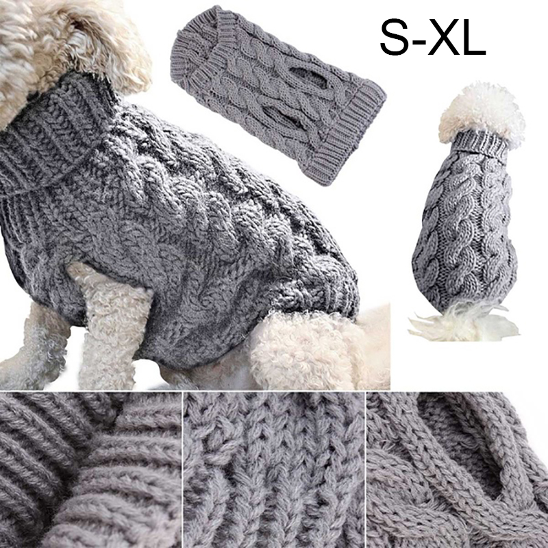UK Fashion Knitted Puppy Dog Jumper Sweater Pet Clothes For Small Dogs Coat 2
