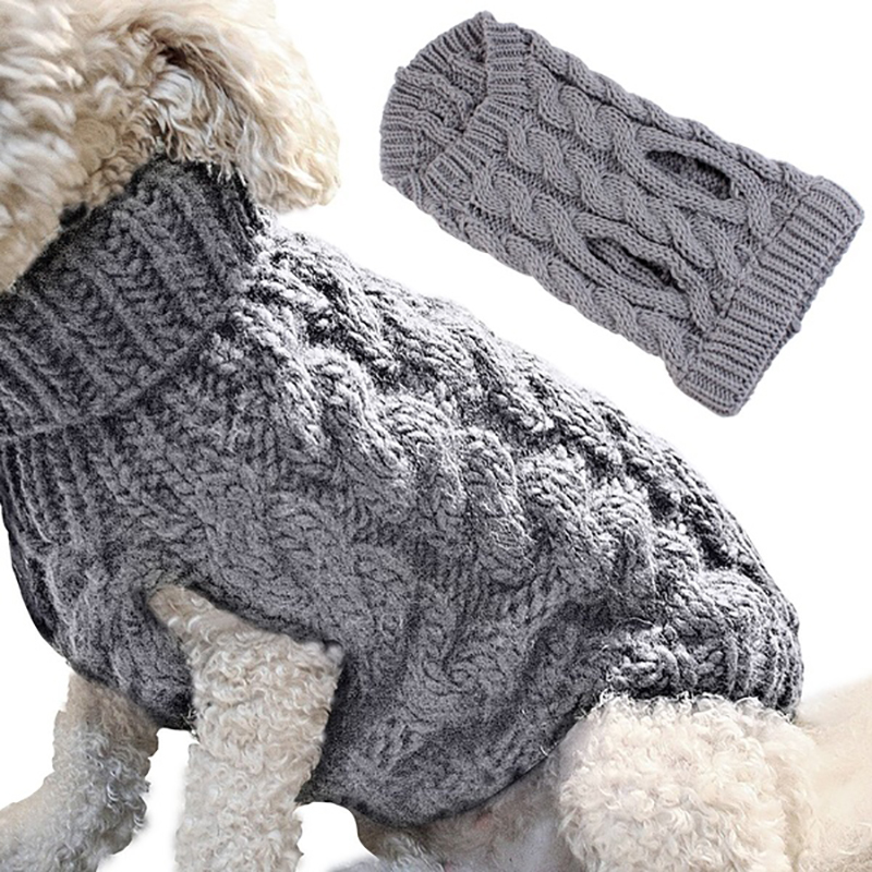 UK Fashion Knitted Puppy Dog Jumper Sweater Pet Clothes For Small Dogs Coat 3