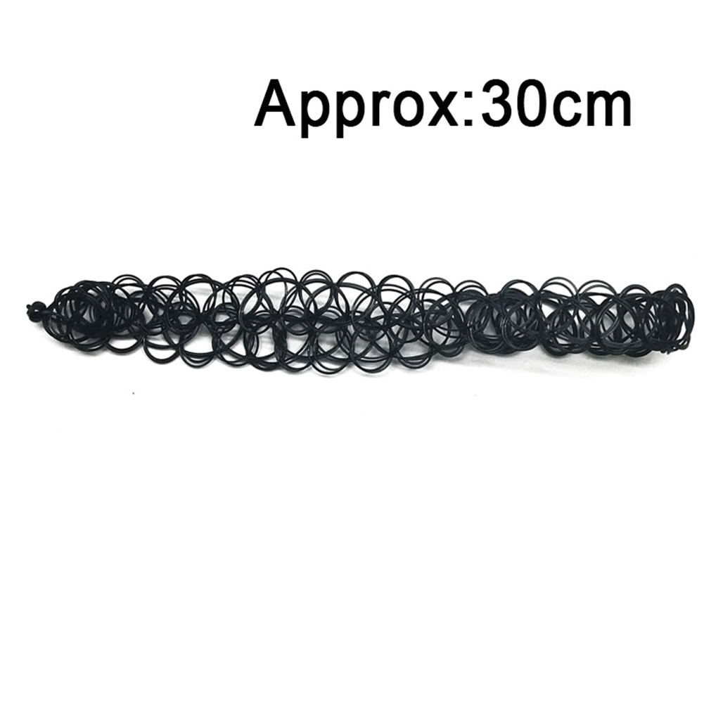 12x Chocker Necklaces Multicolour Black Choker Necklace Elastic Collar Necklace
