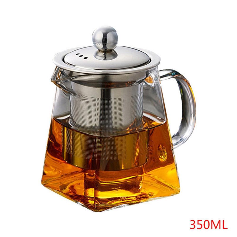 Hitzebeständige Glas Teekanne mit Infuser Kaffee Tee Blatt Kräuter Set