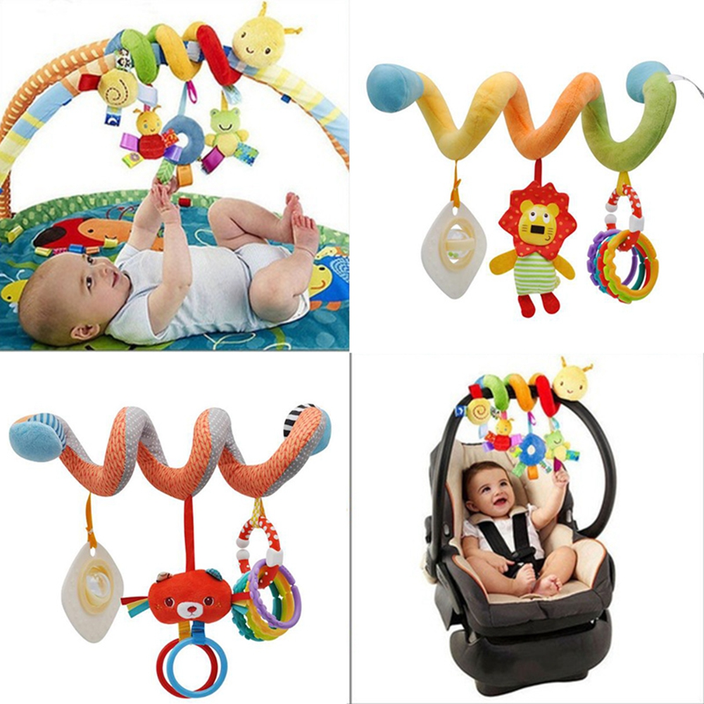 Baby Stroller Toy Activity Spiral Hanging Toy with Ringing Bell for Car Seat Bed