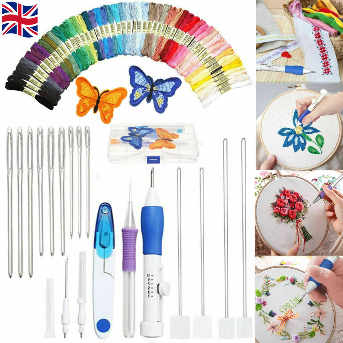 Embroidery Needle Punch Adjustable Needle Pen Kit Tool for DIY Craft