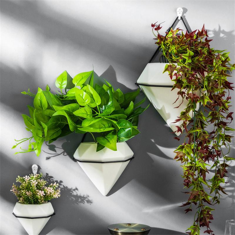 Korb Hangend Geometrisch Dekoration Metall Pflanzen Marmor Blumentopf Ebay