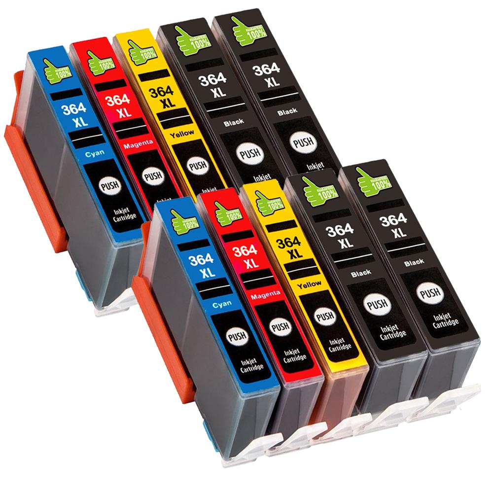 10 DRUCKER PATRONEN mit Chip für HP 364 XL Officejet 4620 ...