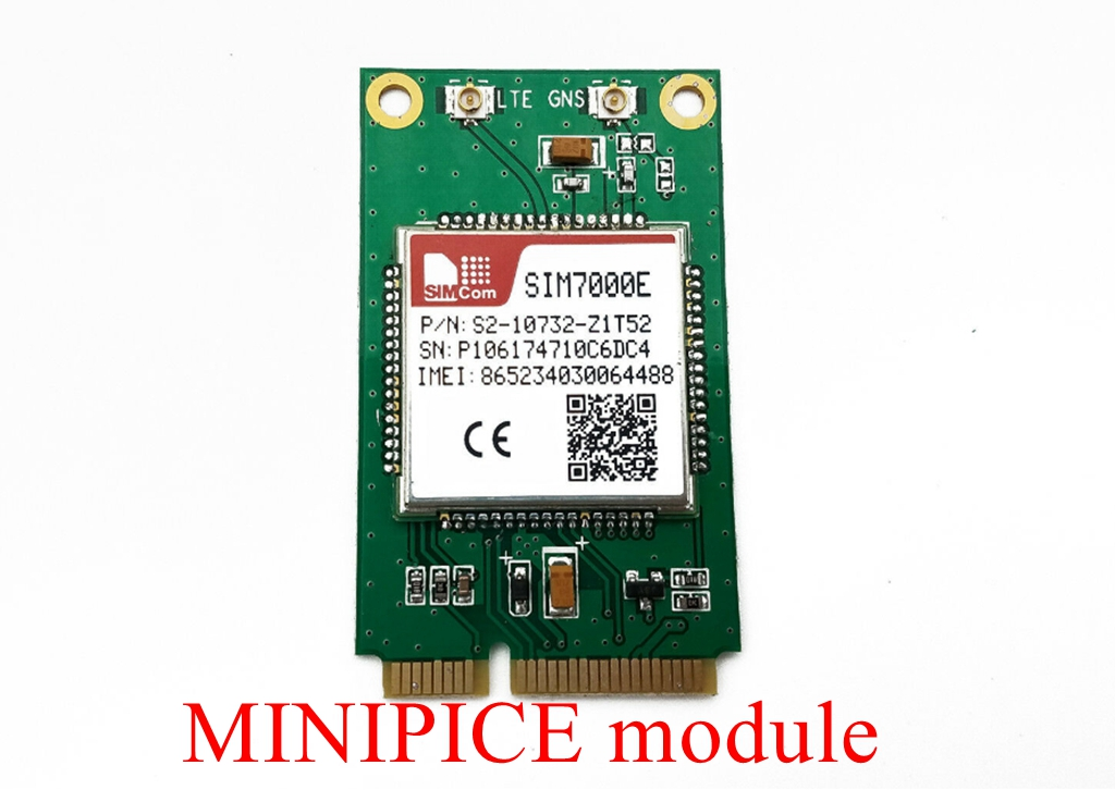 SIMCOM SIM7000E MINI PCIE+USB SIM Adapter NBIoT CAT-M1 EMTC USB UART GPIO ADC