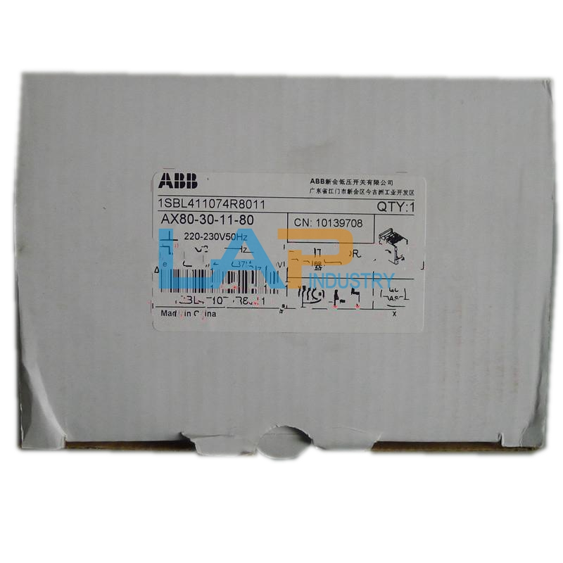 Details about NEW IN BOX FOR ABB Contactor AX80-30-11-80 220-230V on