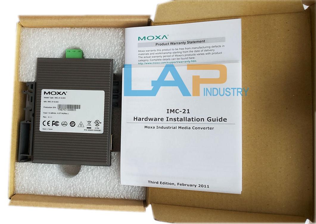 New in Box Moxa IMC-21-S-SC Industrial Media Converter Module PLC Unit 47~63Hz