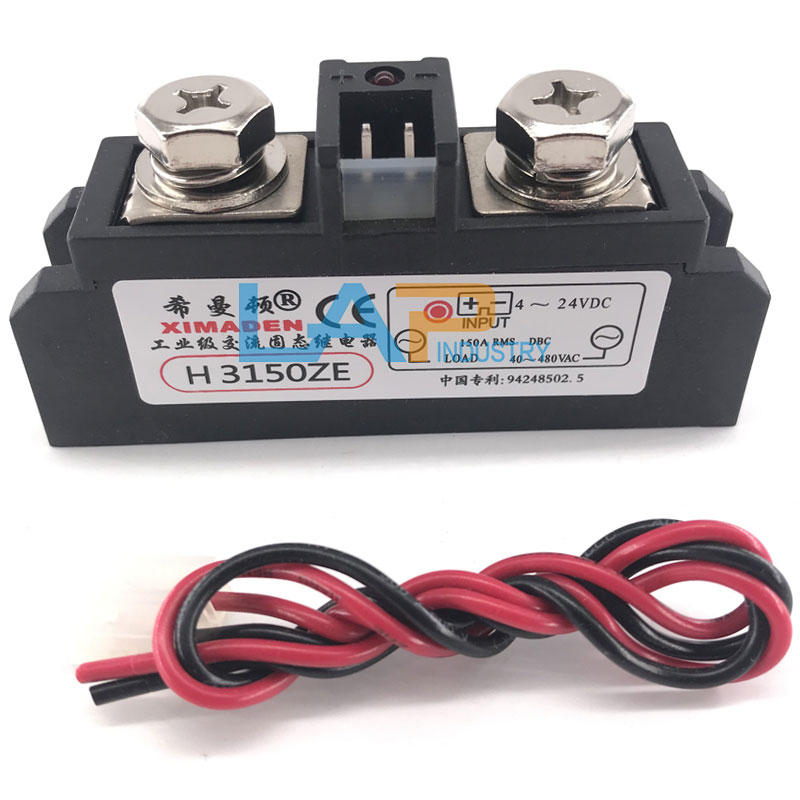 Solid State Relay,30-480V AC MGR-H3150Z Industrial Grade Solid State Relay 150A DC 4-24V NO Contact SSR