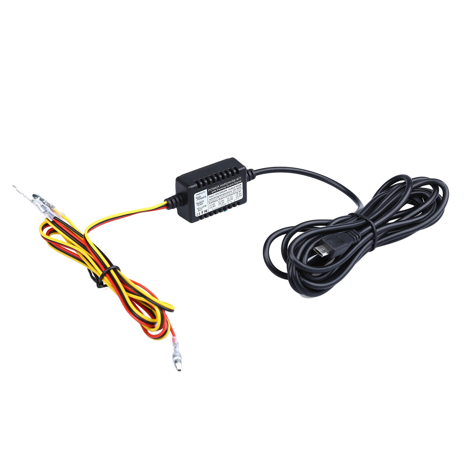 universal micro usb hardwire kit 12v to 5v power adapter cable for 0805p 0906