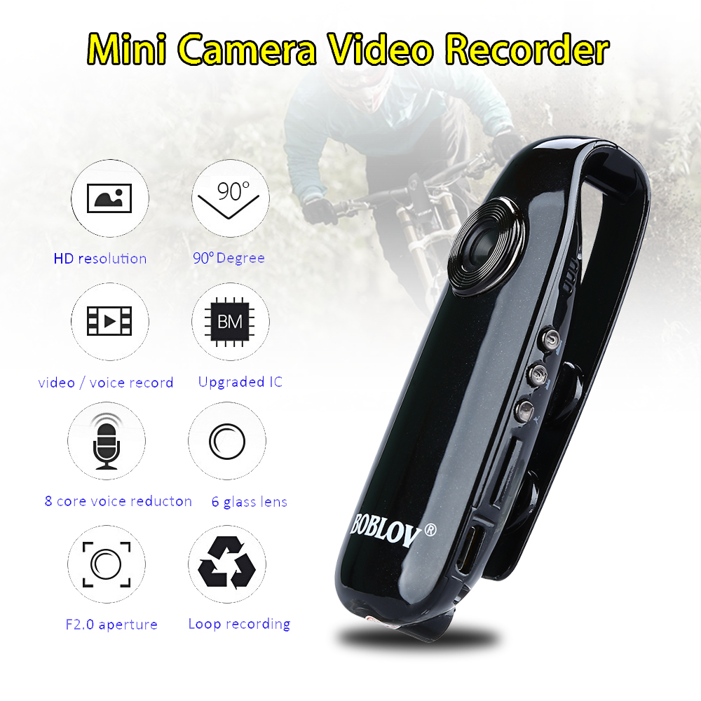 New Small Size Clip Camera Automatic Cycle Video HD Resolution 1080P ...