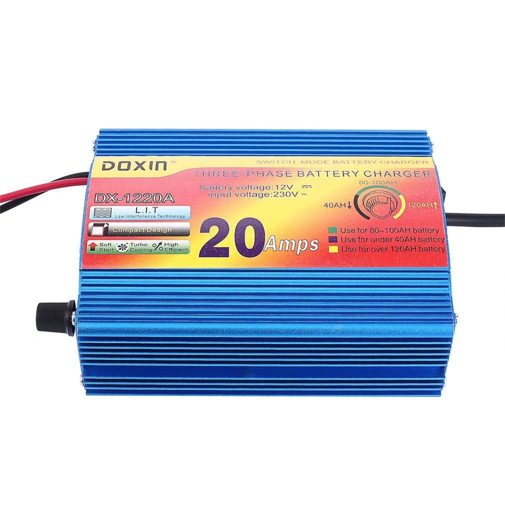 12v 20a Amp Boat Car Motorcycle Repair Switch Mode Three Phase Switching Charger For Batteries Sealed Leadacid Vrla There Are Stage Intelligent Charging Hollow Design Improves Dissipation Performance Professional And Easy To Use