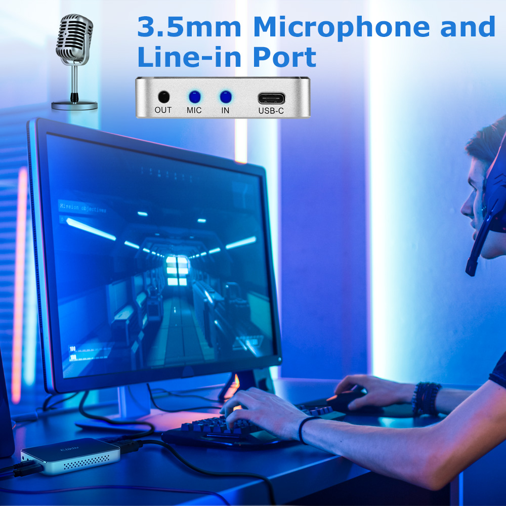 Details about Elikliv Game Capture Box 60FPS HDMI for XBOX XBOXONE with Mic  Input Low Latency