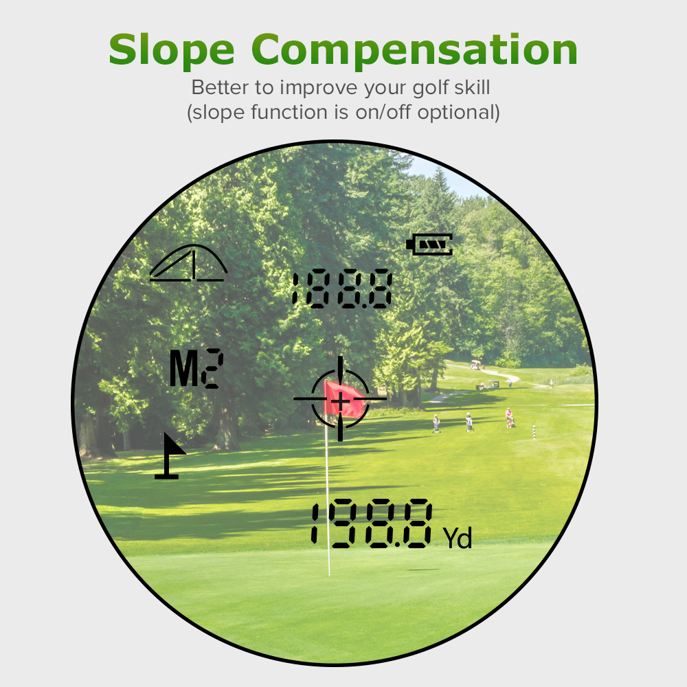BOBLOV 6X22 Golf Range Finder Scope With Slope Function USB Charging Speed Meter