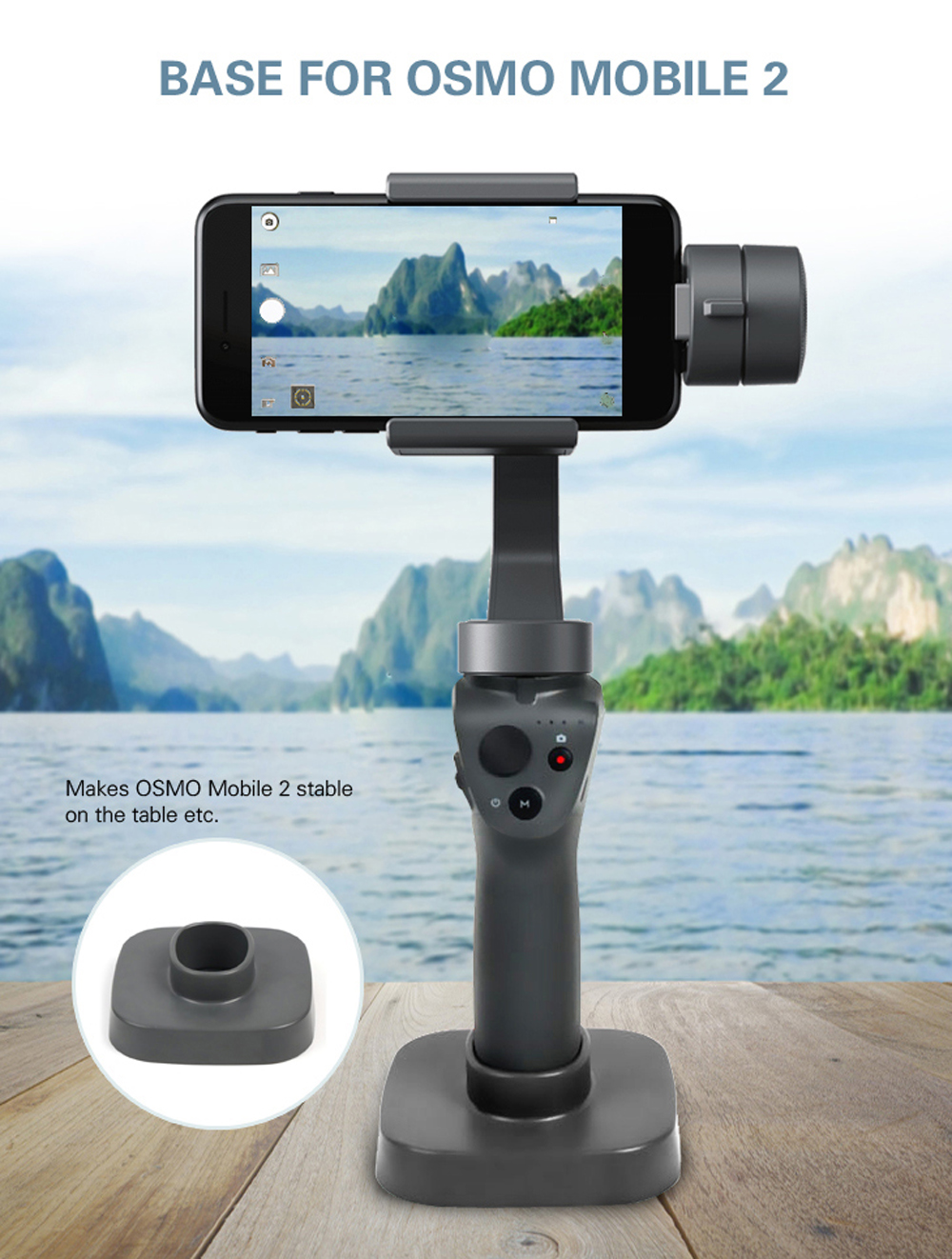 Base Mount for DJI OSMO Pocket Blue Base Mount Stand Stabilizer Fixator Handheld Camera Stands