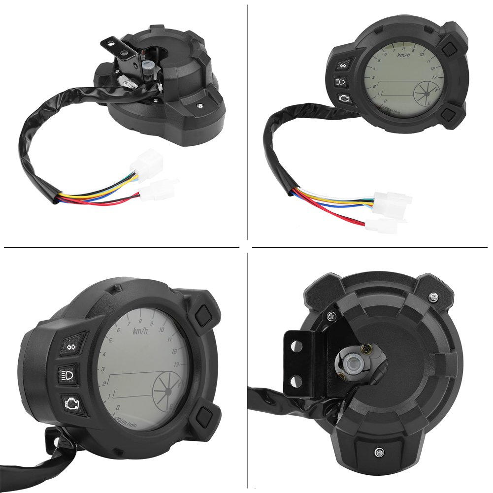 Universal Motorcycle Speedometer Odometer Tachometer Guage