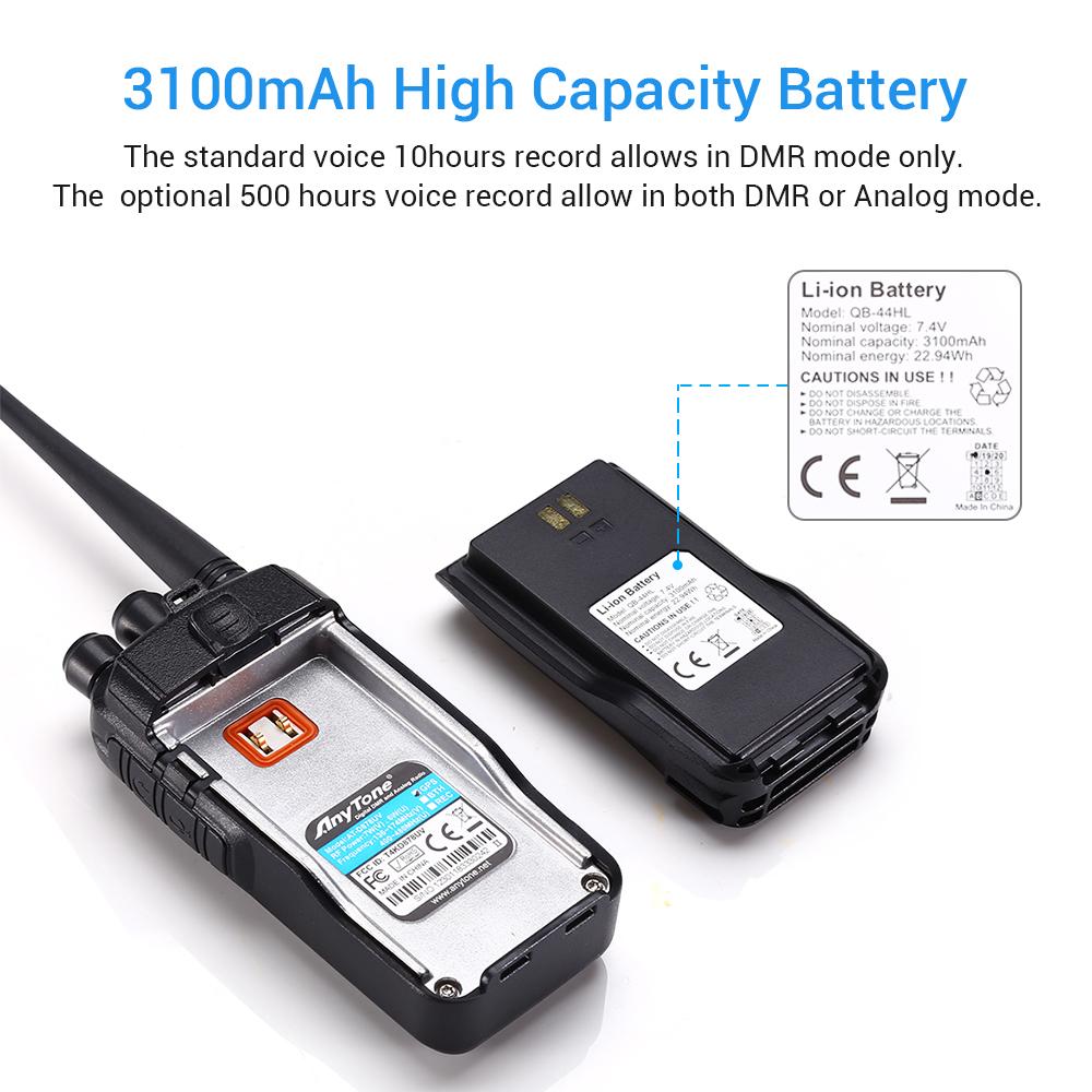 Details about AnyTone AT-D878UV Tier I II GPS Dual Band Digital DMR/Analog  Ham Amateur Radio