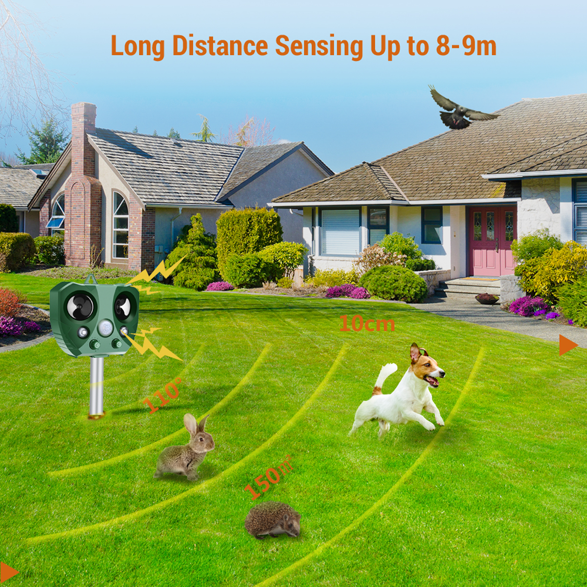 Solar Outdoor Pest Animal Repeller Pir Motion Sensor