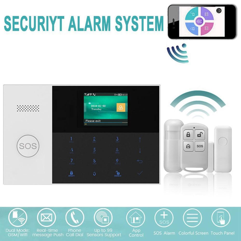 2x Alarm 120DB Wireless Touch Sensor Haus Tür Fenster kontakt funk Alarmanlage