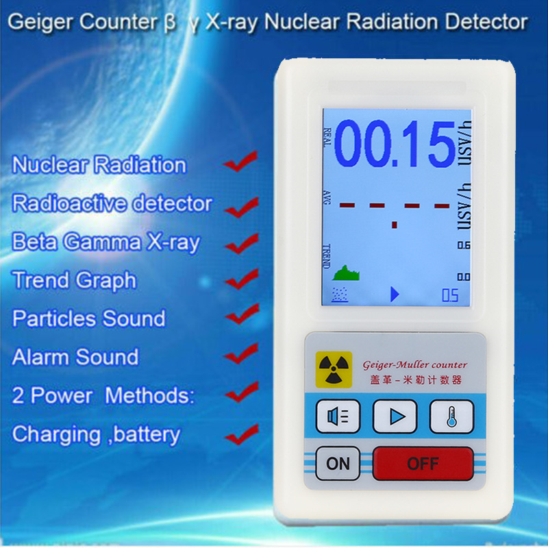 1PCS Upgraded Geiger Counter Nuclear Radiation Detector β Y X-ray Monitor Meter
