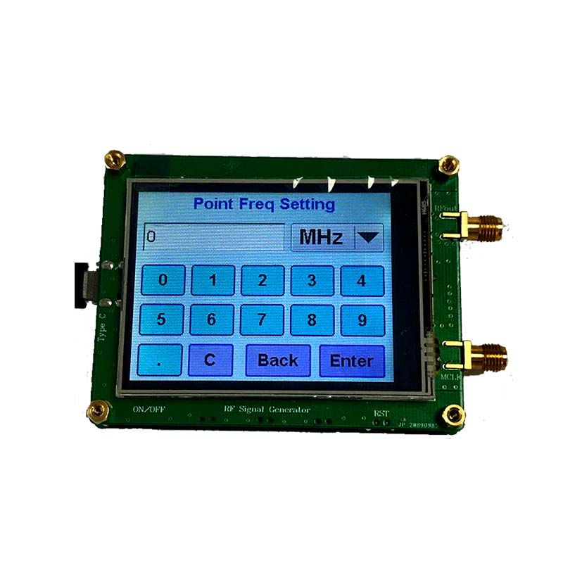 Signal Generator High Precision Full Touch Screen RF Sweep Dot Frequency Module Radio PC Meter Counter Control with Data Cable SMA Female ADF4350// ADF4351 ADF4351