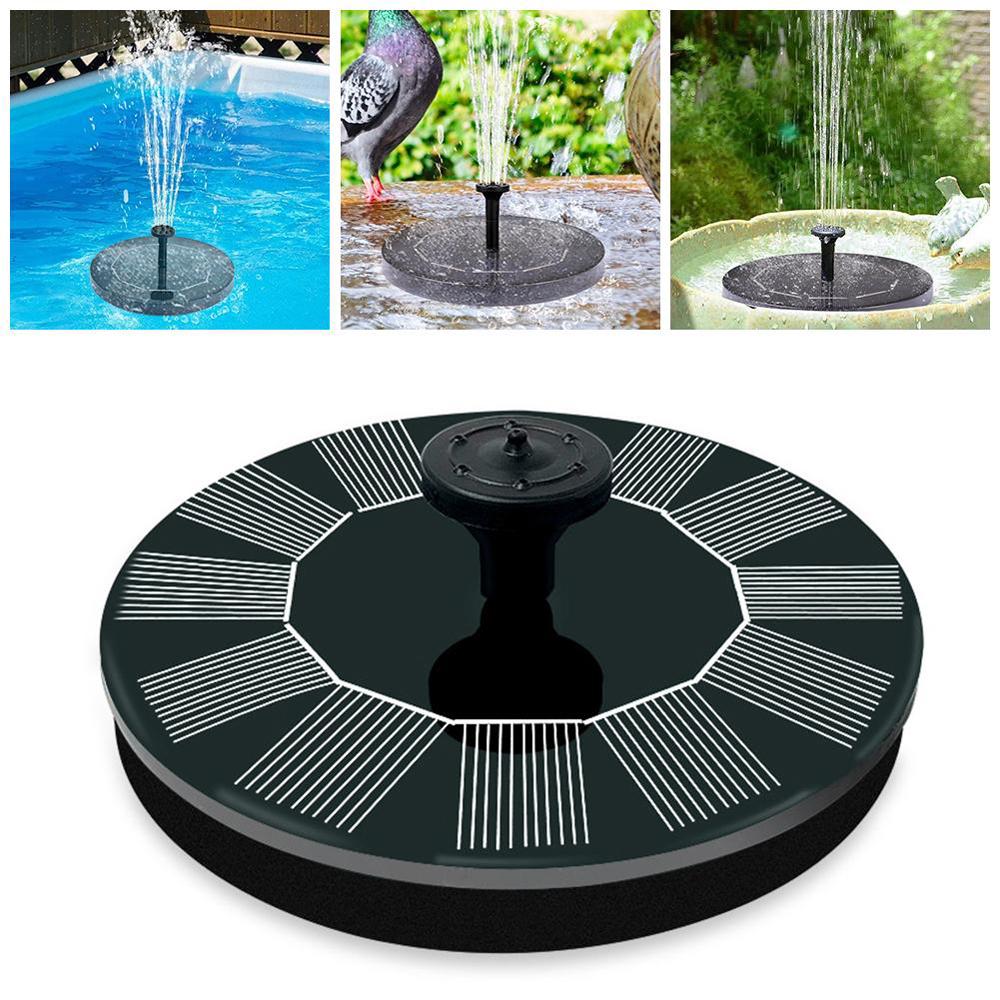 PURCOULEUR Solar Powered Floating Bird Bath Water Fountain Pump Garden Pond Pool