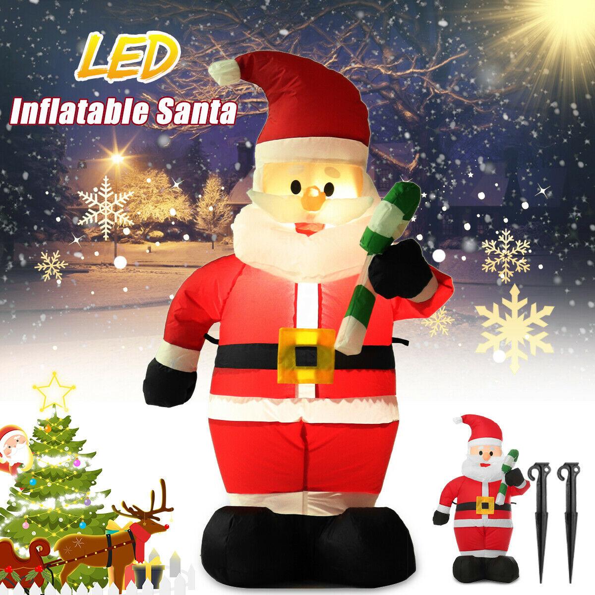 CHRISTMAS XMAS SANTA INFLATABLE BLOW UP DECORATIONS OUTDOOR