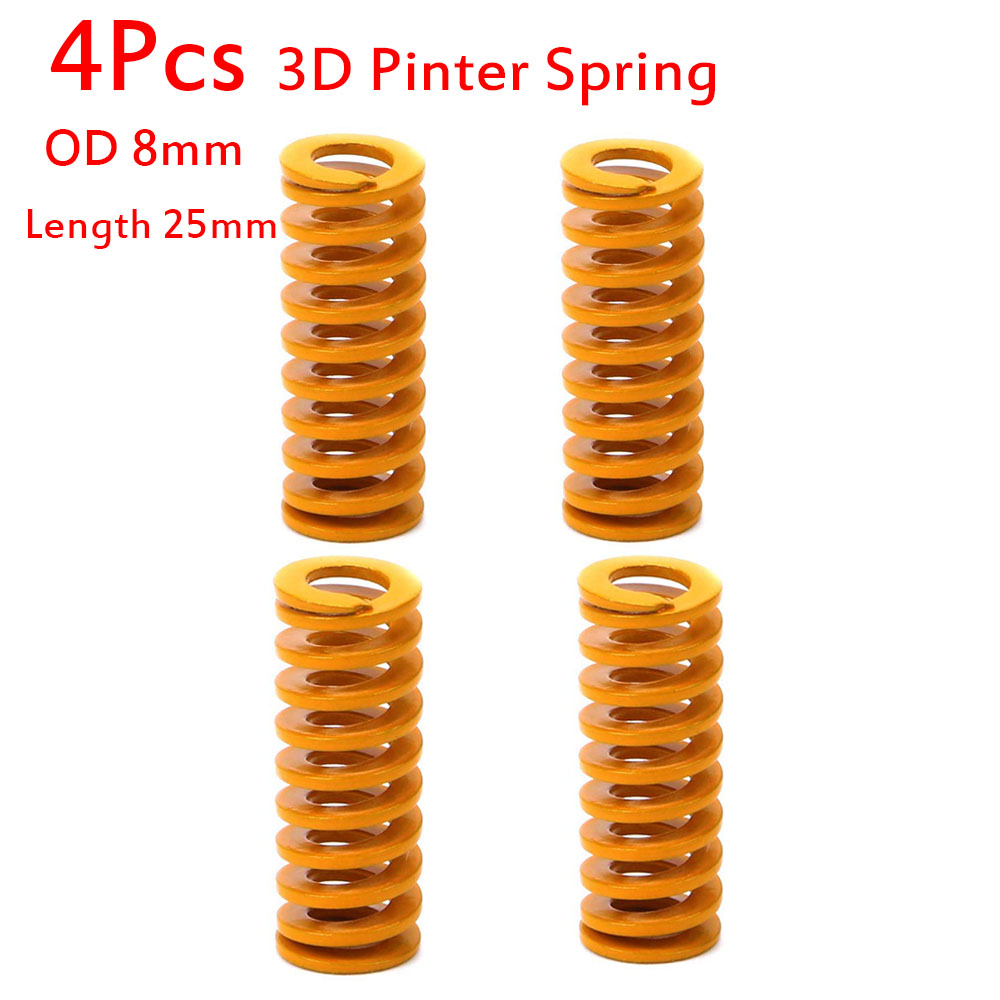 4-pack Compression Heated Bed Springs For 3D Printer Ender 3 Creality CR-10 10S