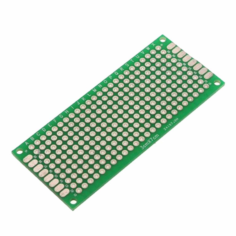 10Pcs Double Side Prototype PCB Bread board Tinned Universal 30x70 mm 3x7 cm NEW