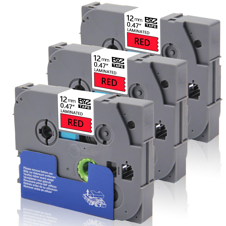 Büroelektronik Bürobedarf & Schreibwaren Brother TZe-431 Laminated 12mm Tape Cassette Black on Red