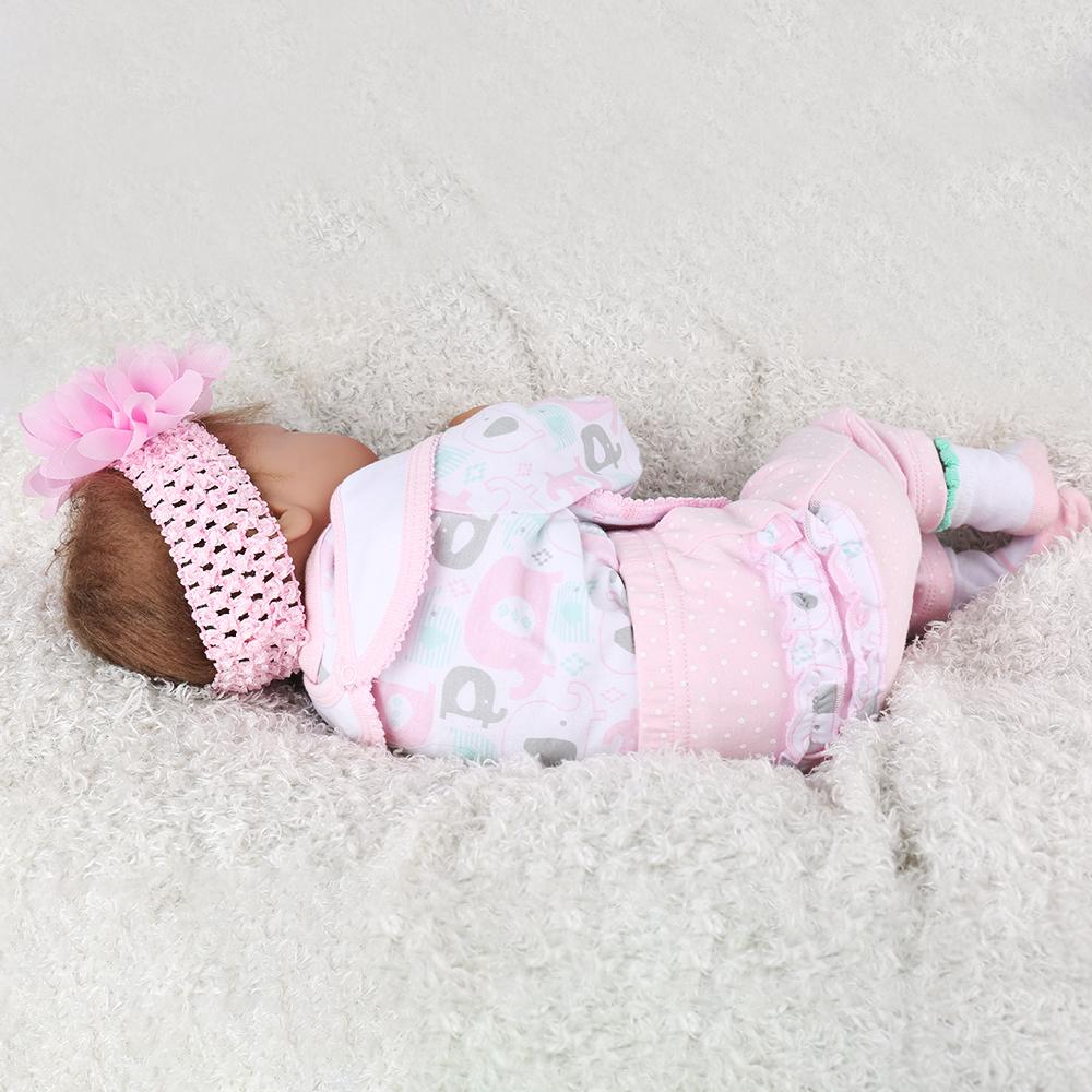 """Reborn Newborn Boy Sleeping Dolls 22\/"""" Lifelike Baby Doll Vinyl Silicone Gift"""