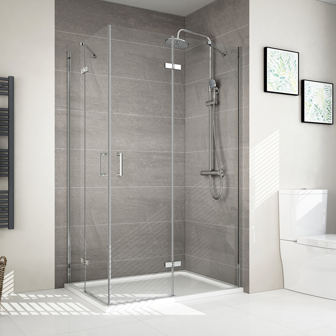 Details About Frameless Pivot Hinge Shower Enclosure Glass Cubicle Door Side Panel Stone Tray