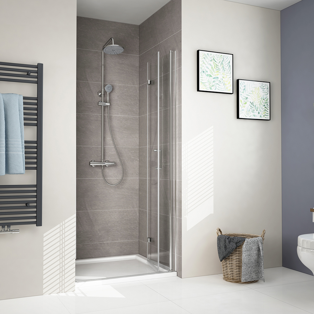 Details About New Bifold Frameless Shower Door Enclosure Hinge Bathroom 6mm Glass Screen Uk