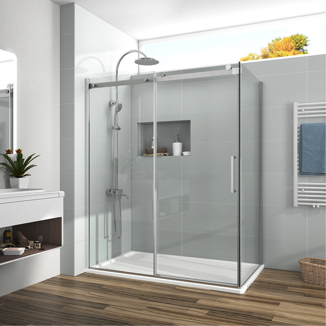 Details About 48 X36 X72 Frameless Sliding Shower Door Enclosure Side Panel 5 16 Glass