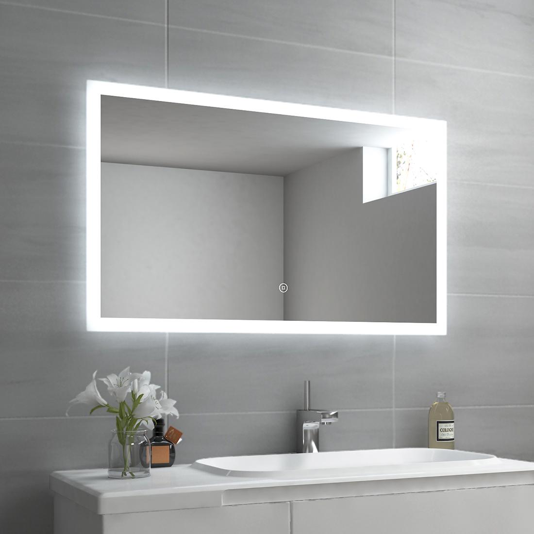 Badspiegel Led Mit Beleuchtung Mit Touch Badezimmerspiegel