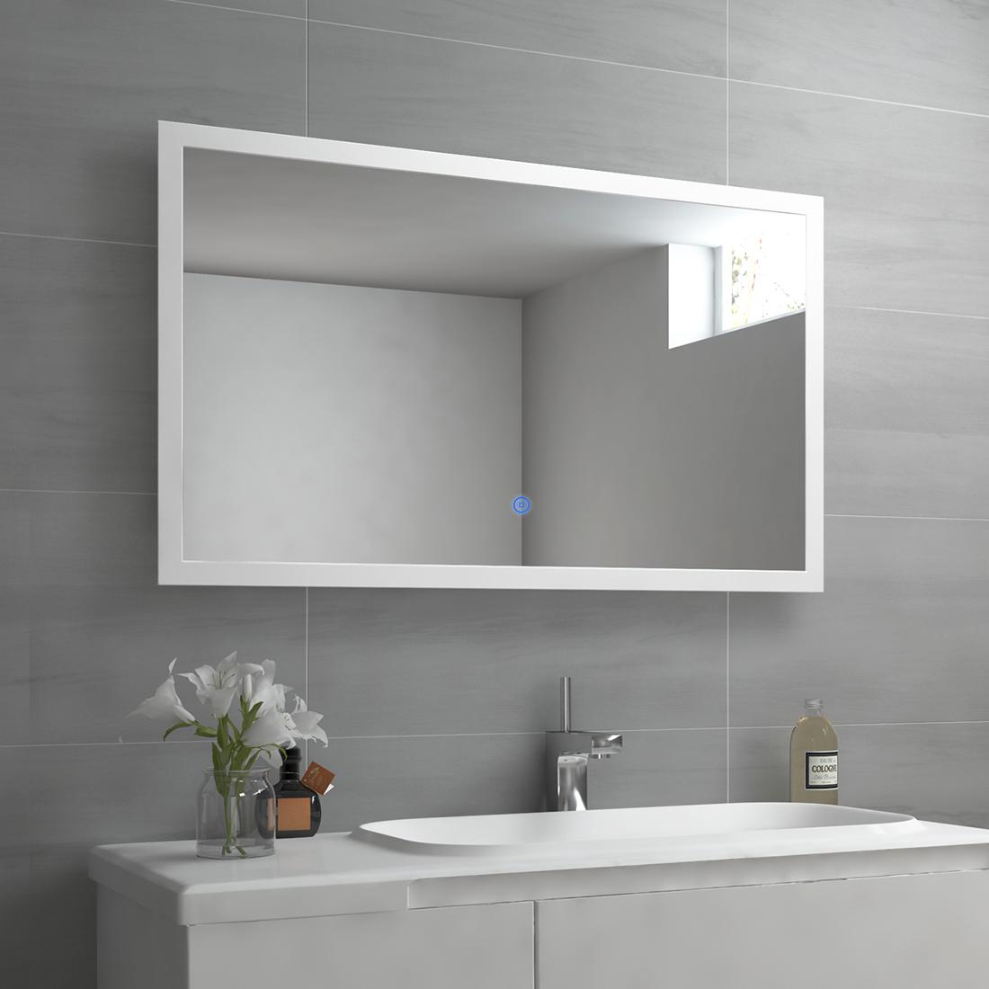 Lichtspiegel Badspiegel Led 80x60 60x80 Spiegel Badezimmerspiegel