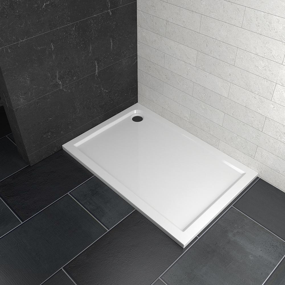 Duschwanne 90*70cm Rechteckig Duschtasse Kunststein Duschkabine 4cm ultra flach