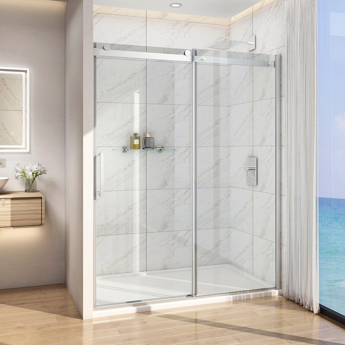 60 X36 X72 Bath Frameless Sliding Shower Door Enclosure 5