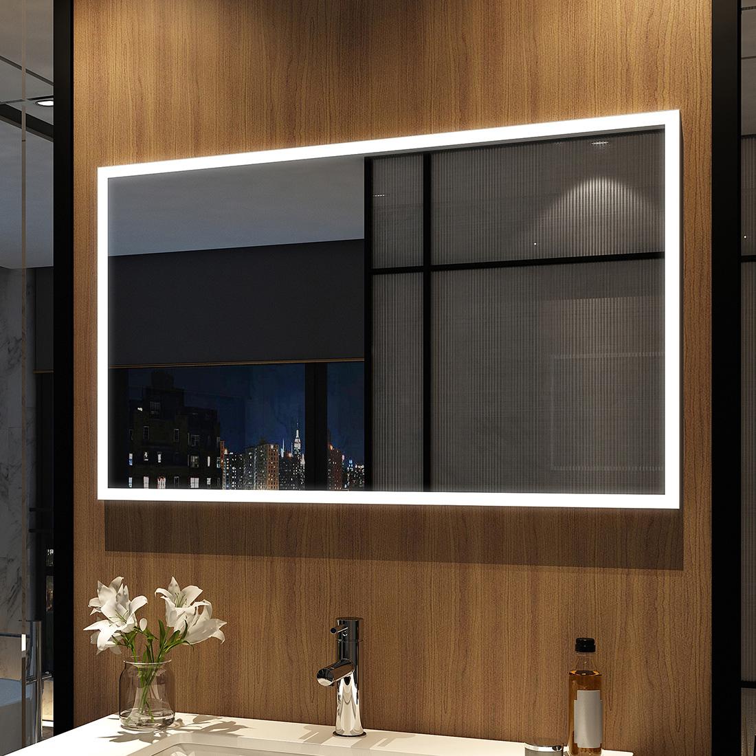 LED Lichtspiegel Badspiegel Badezimmerspiegel Duschspiegel Mit LED Beleuchtung