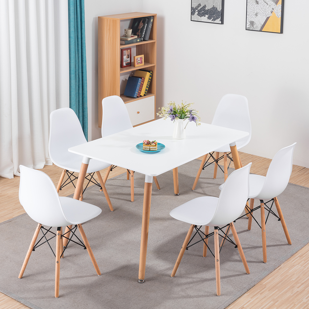 Store Categories. Dining Chair ... & Rectangle Dining Room Table and 6 Chairs Set White Eiffel Retro ...