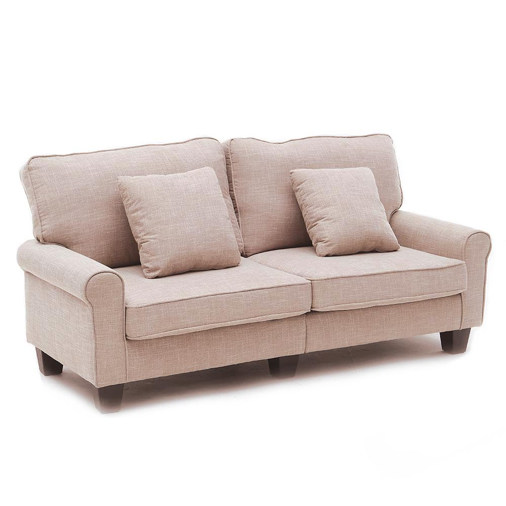 Incredible Details About Modern Style Brown Fabric 2 3 Seater Small Love Seat Sofa Bedroom Furniture Ncnpc Chair Design For Home Ncnpcorg